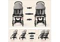 Сцепки для колясок (для двойни) комплект из 3-х частей.